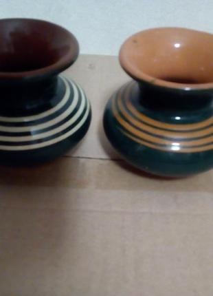 2 міні вазочки глина #розвантажуюсь