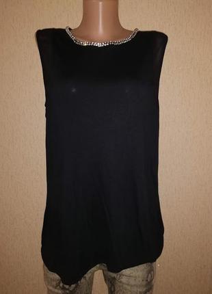 Стильная черная женская трикотажная майка, блузка 16 р. doroth...