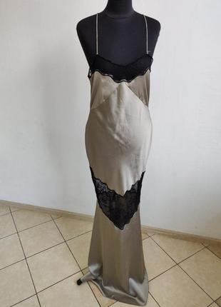 ❤️sale к 8 марта !!❤️ сатиновое платье на тонких бретелях с...