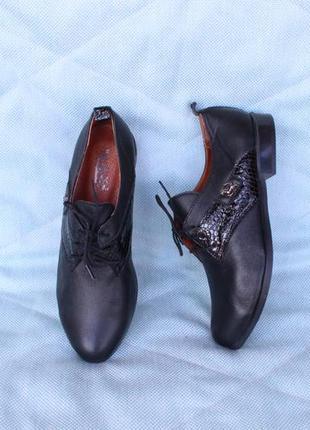 Кожаные туфли на шнурках, оксфорды, броги, дерби 36, 37, 38 ра...