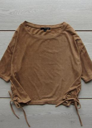 Замшевая футболка топ с завязками от tally weijl