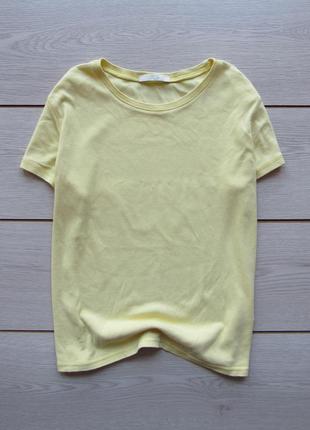 Базовая футболка бледно-желтого цвета от marks & spencer
