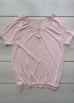 №57 пудровая футболка блуза большой размер от esprit