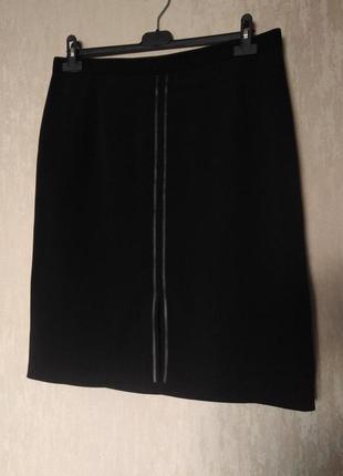Юбка карандаш с кожаными вставками 12-14 размер 46 размер