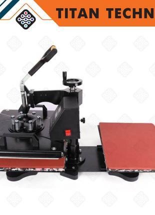 Термопресс  двойной 38×30 см, термотрансфер для футболок, машина