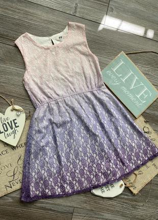 Платье сарафан кружевной h&m 7-8л