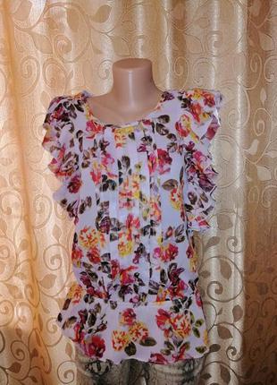 🌺🎀🌺стильная легкая женская, блузка, кофта, майка, топ в цветоч...