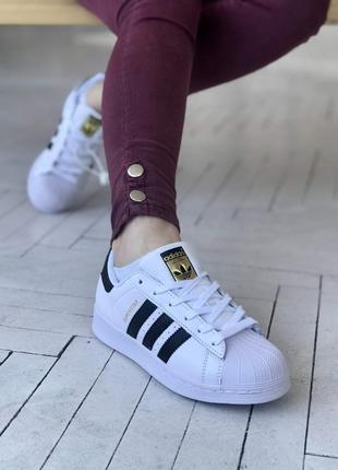 Adidas superstar 🔺 женские кроссовки адидас суперстар белые с ...