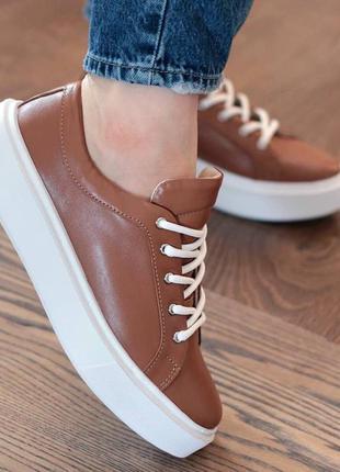 Натуральные кожаные женские кеды кроссовки мокасины 36-41р
