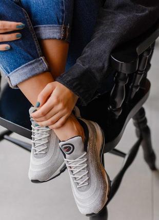 Nike 97 swarovski silver  🔺женские кроссовки найк еир макс