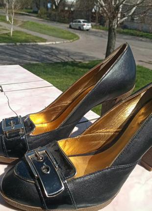 """Стильные кожаные туфли """" dumond""""  38-39"""