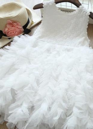 Платье волан модное сетка