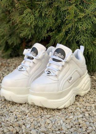 Buffalo classic low white 🔺женские кроссовки баффало белые