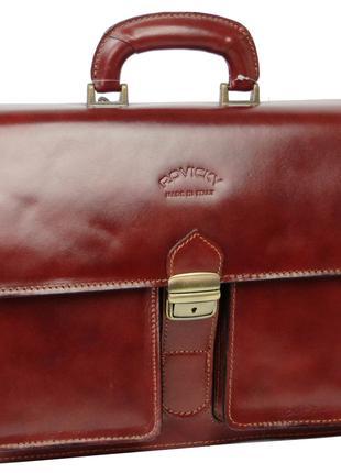 Портфель из натуральной кожи Rovicky AWR-5-1 коричневый