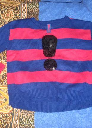 Очень классный яркий свитерок yd на 7-8 лет.