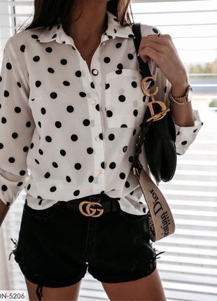 блузка горох