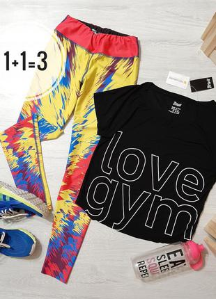 Crivit крутая спортивная футболка love gym кроп топ топик черн...