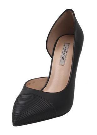 Туфли лодочки  на шпильке anemone натуральная кожа