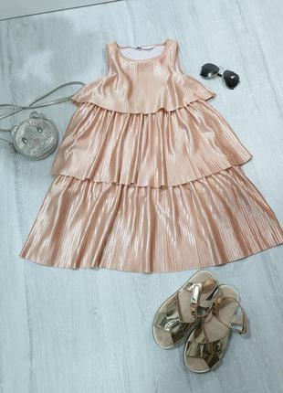 Золотистое платье  h&m