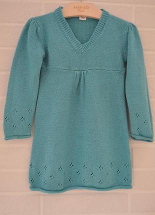 Теплое платье на девочку 2 года