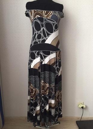 Летнее натуральное платье в пол большого размера (нем 42, укр ...
