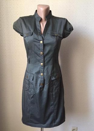 Классное летнее платье в стиле сафари от h&m, размер нем 36, у...