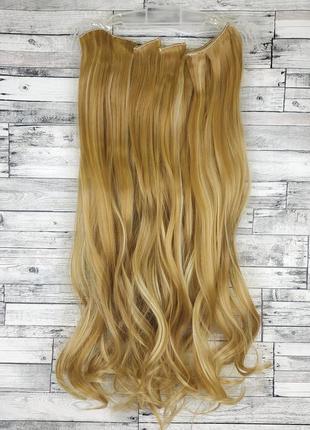 Трессы волнистые набор 16 клипс блонд темный со светлым мелиро...