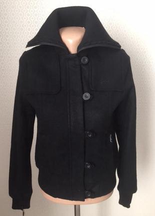 Новая (с этикеткой) куртка из пальтовой ткани с трикотажным фо...