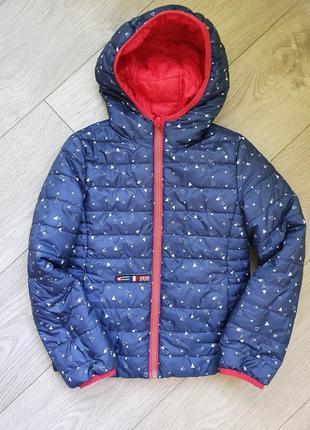 Куртка деми c&a двухсторонняя размер 128