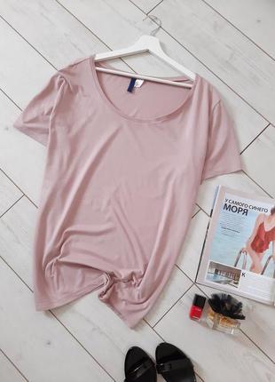 Стильная футболка в пастельном розовом цвете..# 181