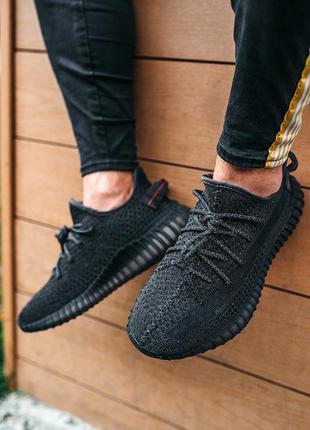 Мужские кроссовки адидас изи буст черные, adidas yeezy boost 350