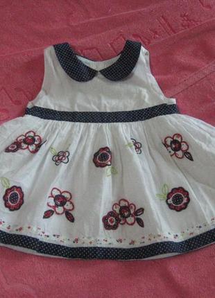 Легкое нарядное платье george на 2-3 года