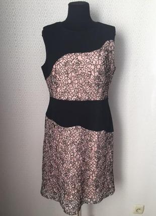 Красивое нарядное кружевное платье большого размера (англ 18, ...