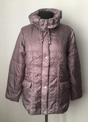 Демисезонная куртка в горошек  большой размер (нем 44/46, укр ...