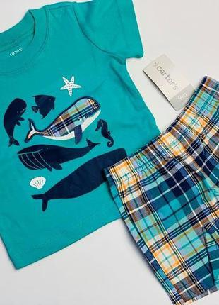 Комплект картерс  футболка +шорты для мальчика