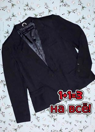 🎁1+1=3 стильный женский темно-серый пиджак zara basic, размер ...