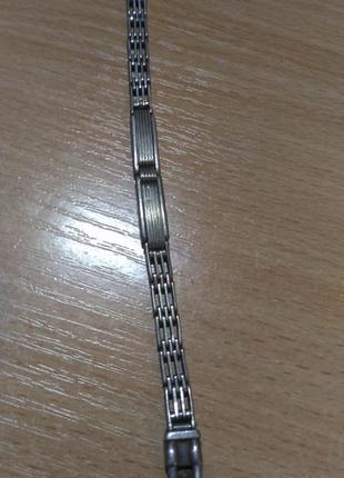 Серебряный старинный женский браслет для часов