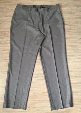 Элегантные брюки в мелкую гусиную лапку, большой размер (нем 4...