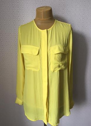 Невероятно яркая весення рубашка блуза большой размер (евр 44,...