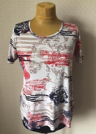 Удобная комфортная футболка в рубчик в морском стиле, размер l...