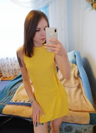Яскраве, лимонне🍋 плаття-комбінезон💥 сукня з шортами, zara👗 об...