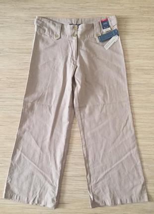 Новые (с этикеткой) летние брюки (лён, вискоза) размер англ 14...
