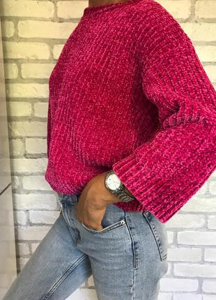 Кофта крупная вязка, джемпер, свитер, светр, светрик, свитшот,...