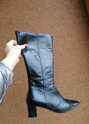 Брендові чоботи демісезонні на каблуку/каблуке высокие сапоги ...
