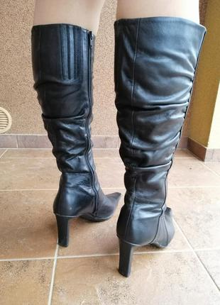 Чоботи ботфорти демісезонні на каблуку/каблуке высокие сапоги ...