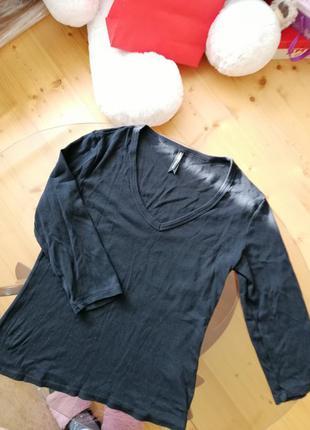 Кофта класична светр джемпер фірмовий з декольте свитер фирмен...