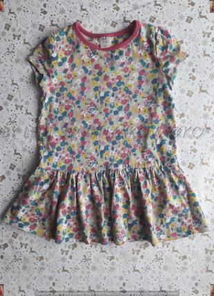 Новое платье в цветочном принте со 100 % хлопка на девочку 3-4...