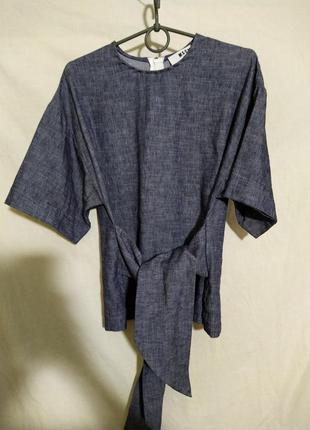 Кофта блузка льняная msgm milano оригинал made in italy