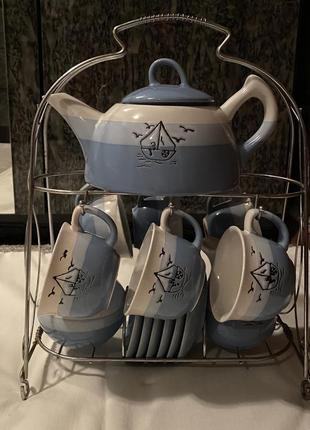 Сервиз на 6 персон s&t чайник чашки блюдца сахарница молочник ...