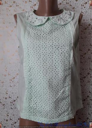 Фирменная atmosphere блуза со 100 % хлопка с прошвы с украшени...